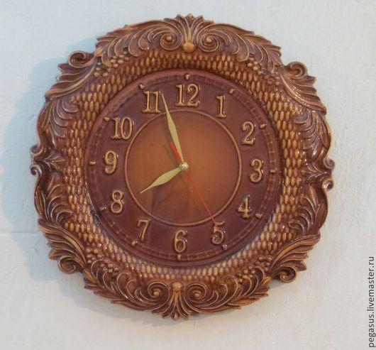 Часы для дома ручной работы. Ярмарка Мастеров - ручная работа. Купить Круглые настенные часы для дома.. Handmade. Часы круглые