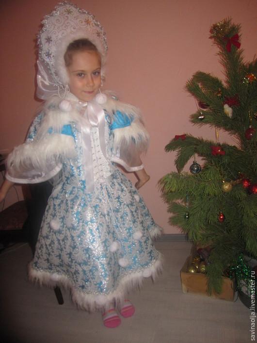 Карнавальные костюмы ручной работы. Ярмарка Мастеров - ручная работа. Купить снегурочка. Handmade. Голубой, новый год 2015, снежинка, кокошник