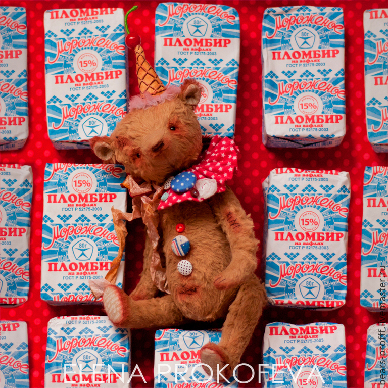 Мишки Тедди ручной работы. Ярмарка Мастеров - ручная работа. Купить Мишка тедди Малыш Шоколадный Пломбир. Handmade. Бежевый