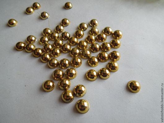 Другие виды рукоделия ручной работы. Ярмарка Мастеров - ручная работа. Купить Полубусы золото и серебро 8 мм(25г). Handmade.
