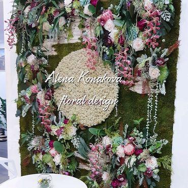Дизайн и реклама ручной работы. Ярмарка Мастеров - ручная работа Панно из стабилизированного мха и растений и искусственных цветов. Handmade.