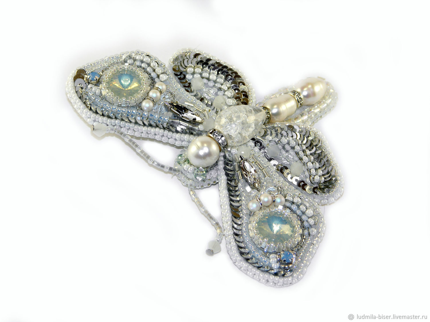 Brooch ' White hawk', Brooches, Moscow,  Фото №1