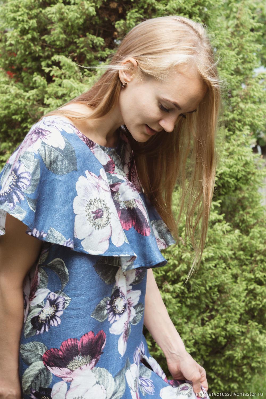 Для будущих и молодых мам ручной работы. Ярмарка Мастеров - ручная работа. Купить Платье 'Мальви'. Handmade. Лен