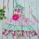 Одежда для девочек, ручной работы. Ярмарка Мастеров - ручная работа. Купить Нарядный фартук сарафан для девочки феи Хлопок. Handmade.