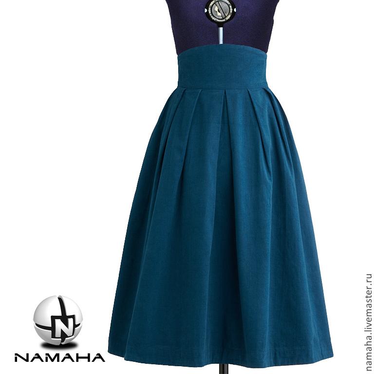 Купить юбку синюю в магазине