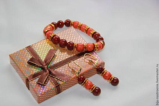 Браслеты ручной работы. Ярмарка Мастеров - ручная работа. Купить браслет Яркий. Handmade. Разноцветный, браслет из камней, жадеит