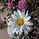 """Броши ручной работы. Ярмарка Мастеров - ручная работа. Купить """"FLOWERMIX №2"""". Handmade. Весна, клевер, весенние цветы"""