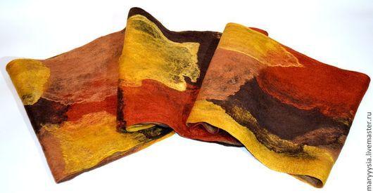 """Шали, палантины ручной работы. Ярмарка Мастеров - ручная работа. Купить шарф -""""хомут"""".. Handmade. Валяние из шерсти"""