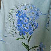 """Одежда ручной работы. Ярмарка Мастеров - ручная работа Льняное платье """"Голубая гортензия"""". Handmade."""