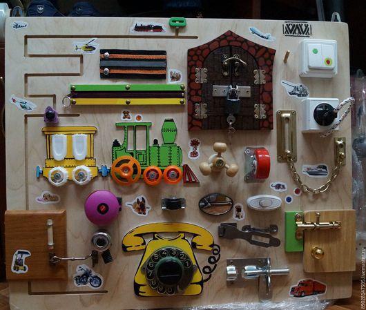 Развивающие игрушки ручной работы. Ярмарка Мастеров - ручная работа. Купить РАЗВИВАЮЩАЯ ДОСКА. Handmade. Разноцветный, развивающие игрушки, Монтессори