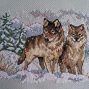 Картины и панно ручной работы. Ярмарка Мастеров - ручная работа Пара волков. Handmade.