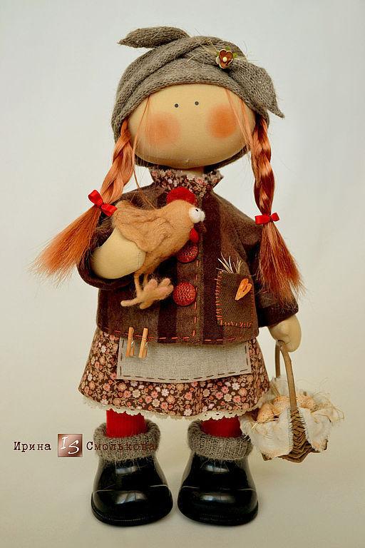 Коллекционные куклы ручной работы. Ярмарка Мастеров - ручная работа. Купить ФРОСЯ. Handmade. Рыжий, кукла в подарок, авторская кукла