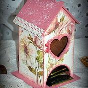 """Для дома и интерьера ручной работы. Ярмарка Мастеров - ручная работа Чайный домик """"Розовый"""". Handmade."""