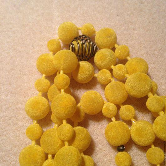 """Колье, бусы ручной работы. Ярмарка Мастеров - ручная работа. Купить Бусы """"Солнечное утро"""". Handmade. Желтый, длинные бусы"""