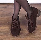 Обувь ручной работы. Ярмарка Мастеров - ручная работа Полуботинки валяные Мокка. Handmade.