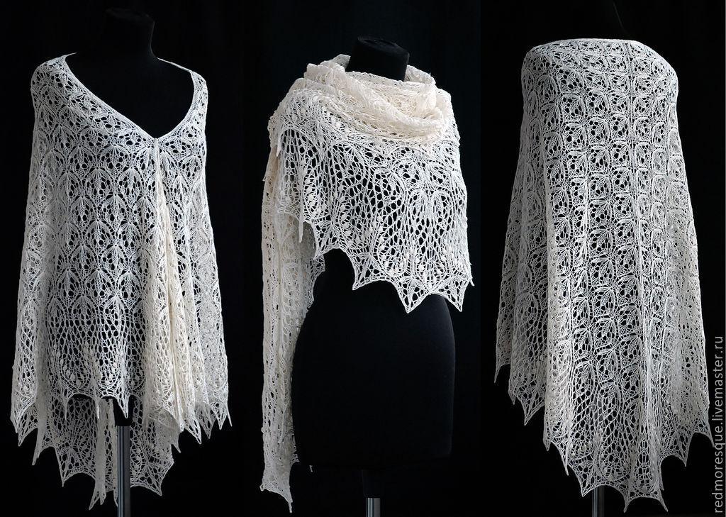 История вязание шали