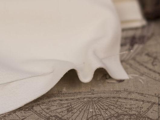 Для украшений ручной работы. Ярмарка Мастеров - ручная работа. Купить Изнанка для вышивки Замша M 23х19см Молочный. Handmade.