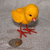 Куклы и игрушки ручной работы. Ярмарка Мастеров - ручная работа Цыплёнок валяный. Handmade.