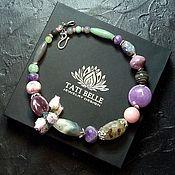 Украшения handmade. Livemaster - original item Necklace of amethyst, agate, prenite