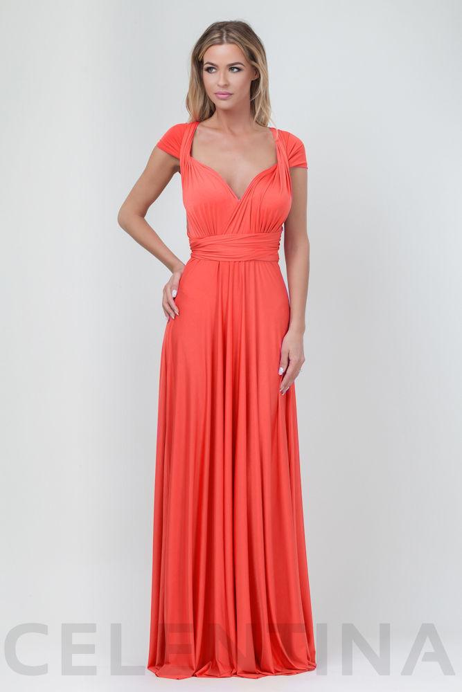 6b061fd016d Коралловое вечернее платье