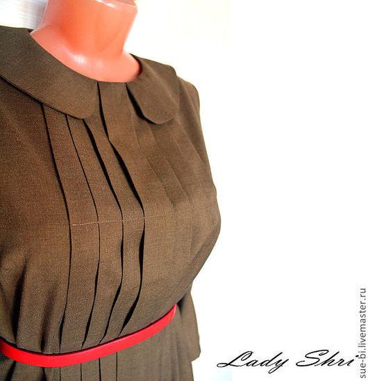 Платья ручной работы. Ярмарка Мастеров - ручная работа. Купить Платье из шерсти с воротничком в стиле 50-х. Handmade.
