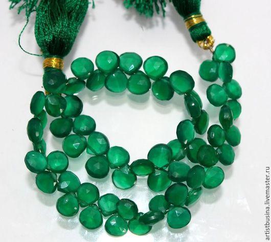 Для украшений ручной работы. Ярмарка Мастеров - ручная работа. Купить зеленый оникс. Handmade. Тёмно-зелёный, оникс бусины