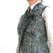Одежда ручной работы. Ярмарка Мастеров - ручная работа Степной шалфей валяный жилет. Handmade.