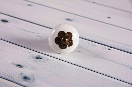 Другие виды рукоделия ручной работы. Ярмарка Мастеров - ручная работа. Купить Мебельная ручка с фурнитурой в виде цветка. Handmade.