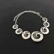 Украшения handmade. Livemaster - original item Necklace Spiral Galaxy. Boho jewelry, chic beads. Handmade.
