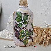 Посуда ручной работы. Ярмарка Мастеров - ручная работа Бутылка  декоративная Aronia. Handmade.