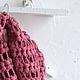 Шали, палантины ручной работы. Ярмарка Мастеров - ручная работа. Купить Шарф снуд вязаный крючком тёмно-розовый. Handmade.