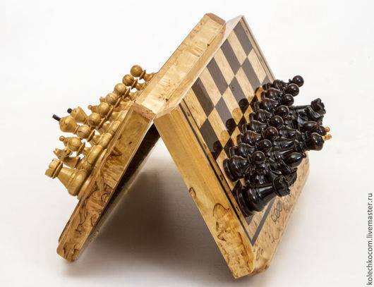 Настольные игры ручной работы. Ярмарка Мастеров - ручная работа. Купить Шахматы из карельской березы. Handmade. Подарок, подарок женщине