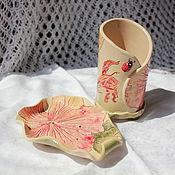 Для дома и интерьера ручной работы. Ярмарка Мастеров - ручная работа Набор для ванной Гибискусы. Handmade.
