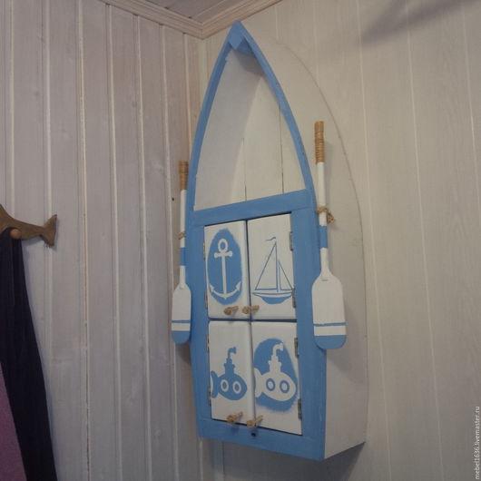 """Мебель ручной работы. Ярмарка Мастеров - ручная работа. Купить Шкаф навесной """"Лодка"""". Handmade. Комбинированный, массив дерева"""