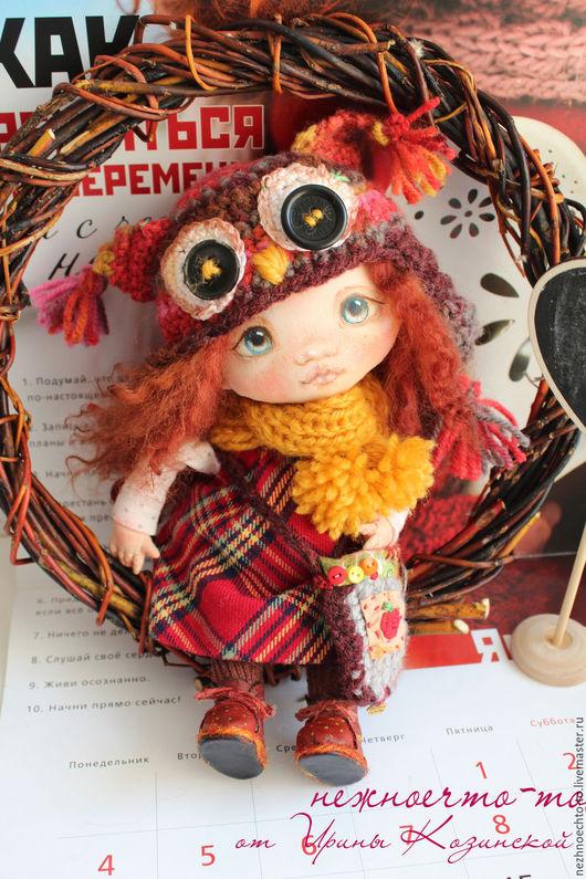 Коллекционные куклы ручной работы. Ярмарка Мастеров - ручная работа. Купить Соня. Handmade. Шапка сова, кукла в шапке
