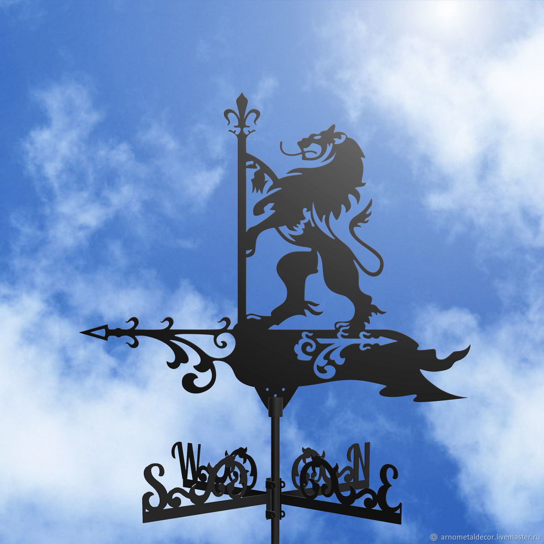 Weather vane on the roof ' Lion with a flag', Vane, Ivanovo,  Фото №1