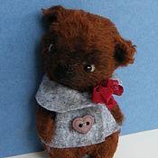 Куклы и игрушки ручной работы. Ярмарка Мастеров - ручная работа мишка тедди Брауни 9 см. Handmade.