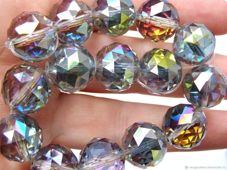 Бусины 16 мм кристаллы большие круглые граненные, Для украшений, Черновцы, Фото №1