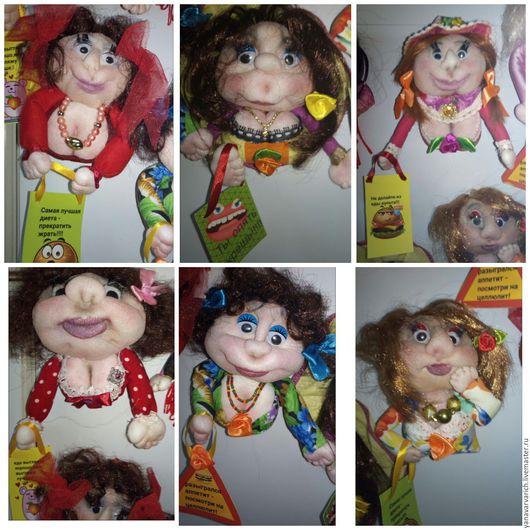 Магниты ручной работы. Ярмарка Мастеров - ручная работа. Купить Магниты на холодильник куклы. Handmade. Подарок, подарок на 8 марта