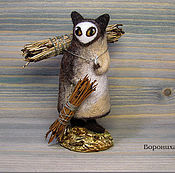 Куклы и игрушки ручной работы. Ярмарка Мастеров - ручная работа Собирательница сосновой хвои. Handmade.