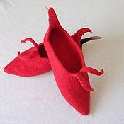"""Обувь ручной работы. Ярмарка Мастеров - ручная работа Тапочки """"Перчик чили"""". Handmade."""