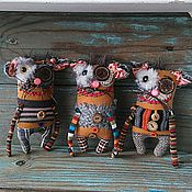 Куклы и игрушки ручной работы. Ярмарка Мастеров - ручная работа Ёшкин кот готовый) текстильная игрушка. Handmade.