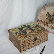 Для дома и интерьера ручной работы. Ярмарка Мастеров - ручная работа Комплект для рукоделия (шкатулка+коробка). Handmade.