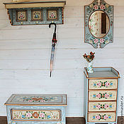 Для дома и интерьера handmade. Livemaster - original item Painted furniture. The living room in Bavarian style.. Handmade.