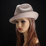 Аксессуары ручной работы. Ярмарка Мастеров - ручная работа Велюровая шляпа Нежность. Handmade.