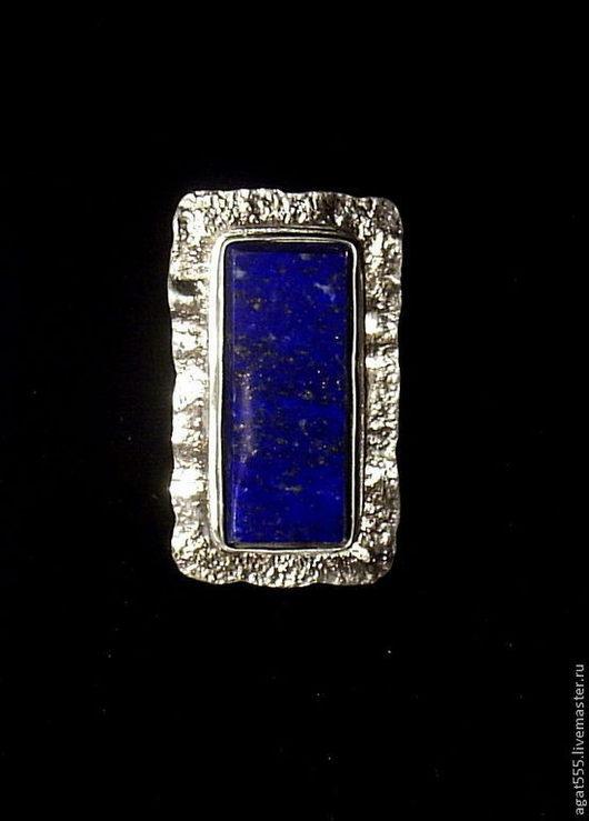 Кольца ручной работы. Ярмарка Мастеров - ручная работа. Купить перстень с афганским лазуритом. Handmade. Тёмно-синий, лазурит в серебре