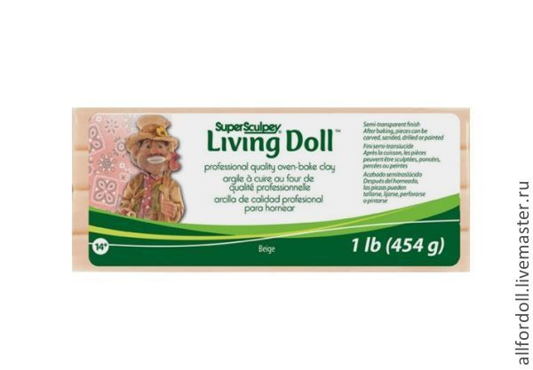 Living Doll бежевый  (454 гр.), Куклы и игрушки, Москва, Фото №1