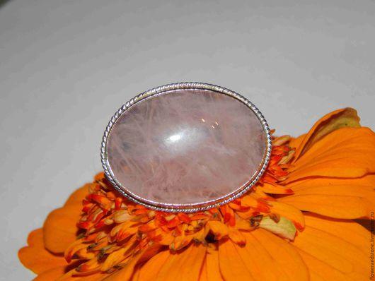 Кольца ручной работы. Ярмарка Мастеров - ручная работа. Купить Розовый кварц – талисман влюбленных. Handmade. Бледно-розовый