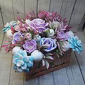 Косметика ручной работы handmade. Livemaster - original item Soap bouquet in a square box. Handmade.