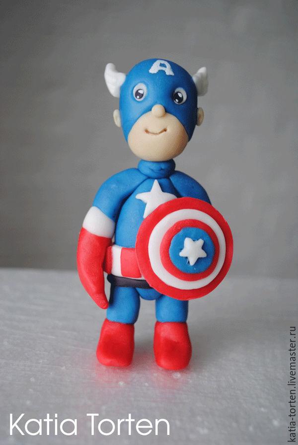 Капитан америка из мастики мастер класс